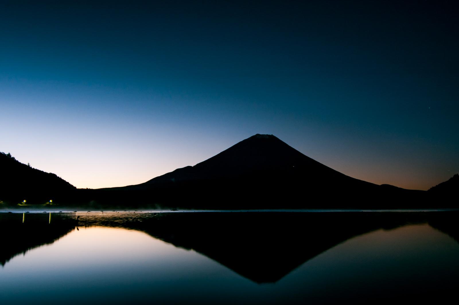 初めての富士山を精進湖から撮影してみた、11年前の話
