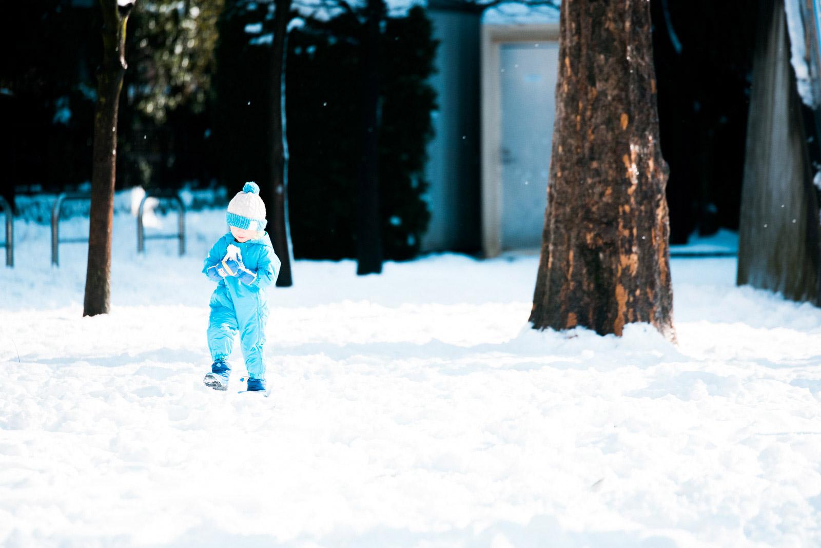 大雪にみまわれた東京、冷え込んだ朝