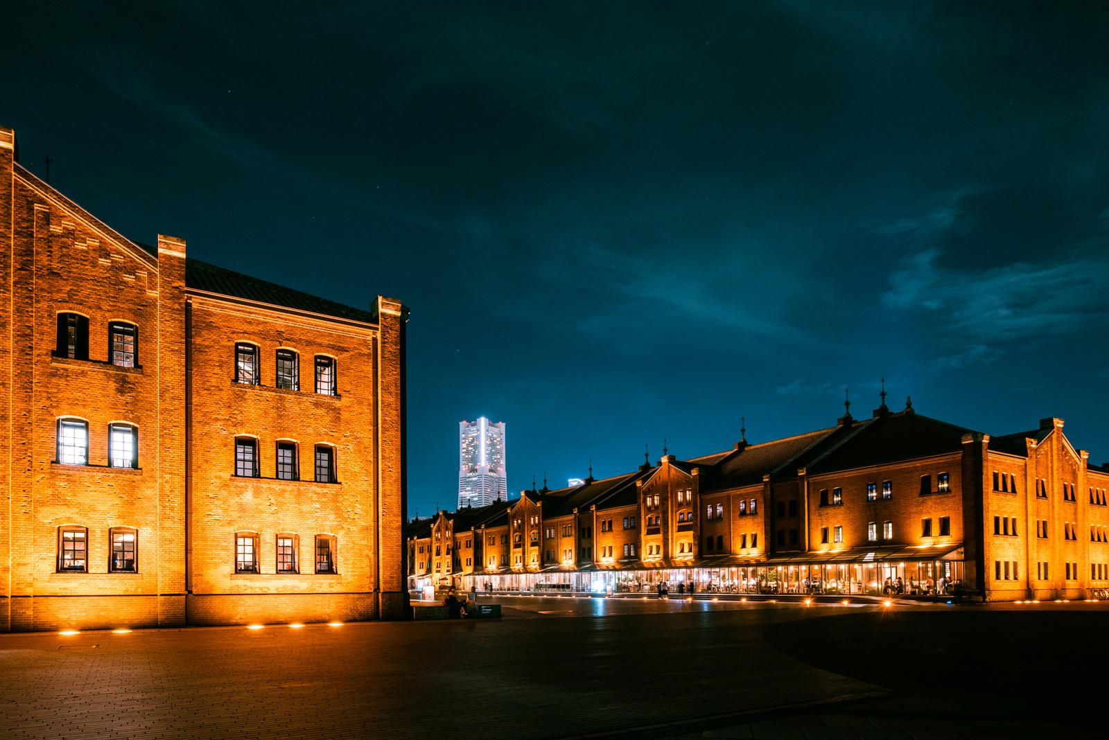 夜景撮影を楽しみたくて、久々に横浜赤レンガ倉庫を訪れてみました