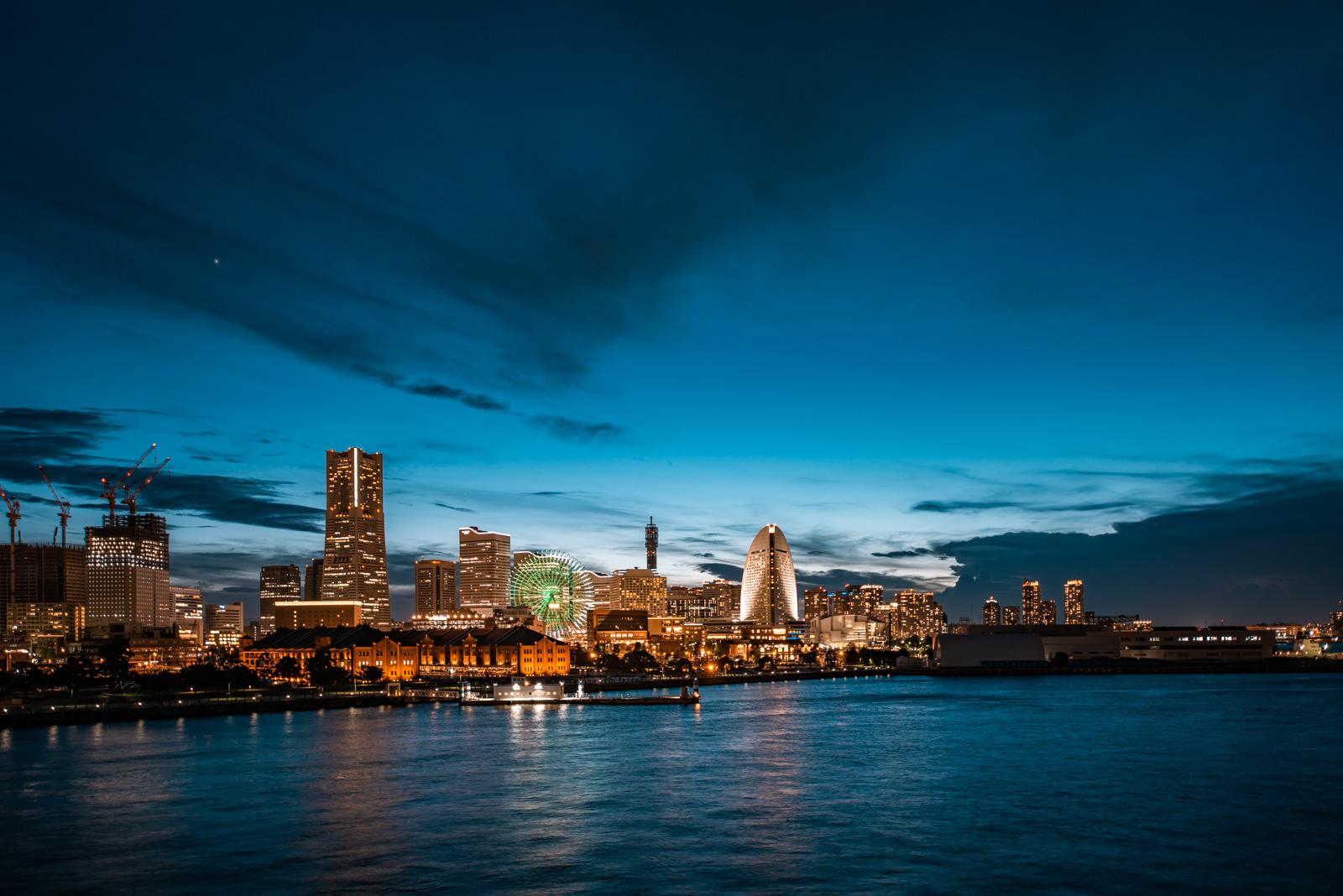 大さん橋/横浜みなとみらいの夜景撮影なら外せないスポット