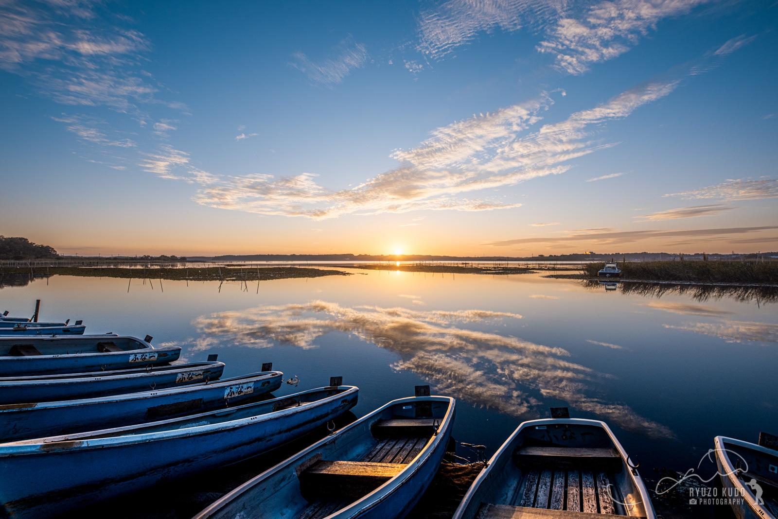 静かに夜が明ける印旛沼を体感、ようやく見に行けた朝焼け